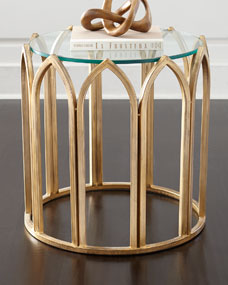 Thames Glass-Top End Table