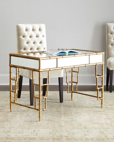 Lyle Mirrored Writing Desk