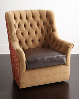 Syd Tufted Swivel Chair