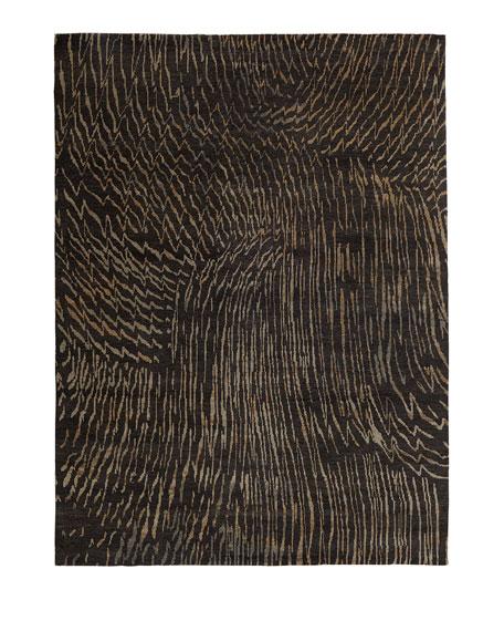 Dark Water Rug, 4' x 6'