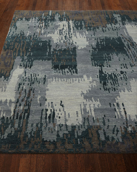 Forest Brushstroke Rug, 8' x 10'