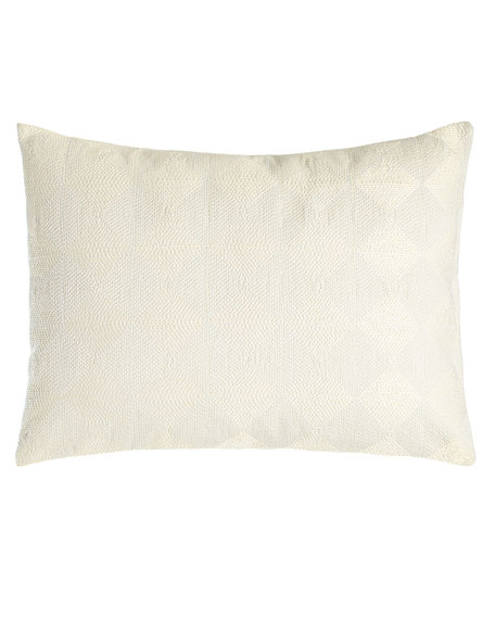 "Sti Thread Counthed Concentric Squares Pillow, 12"" x 16"""