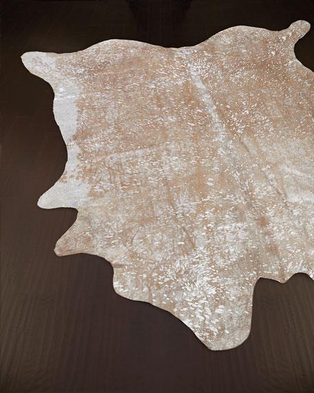 NourCouture Fallen Snow Hairhide Rug, 5' x 8'