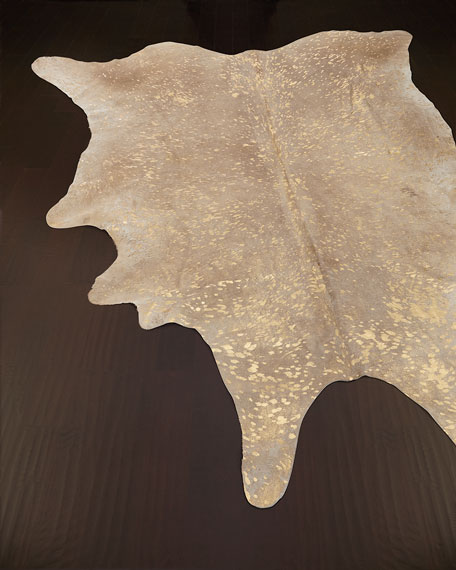 NourCouture Golden Frost Hairhide Rug, 5' x 8'