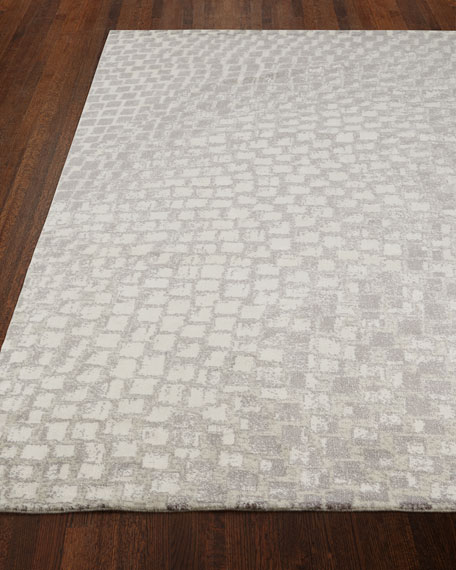 NourCouture Cream Tile Rug, 8'6