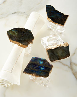 Labradorite Napkin Rings, Set of 4