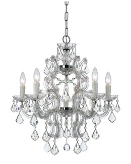 Crystorama Maria Theresa Six-Light Swarovski Crystal Chrome Chandelier