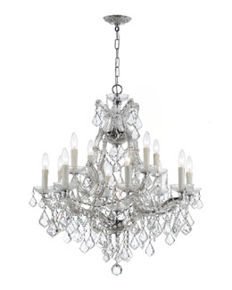 Crystorama Maria Theresa 13-Light Elements Crystal Chrome Chandelier