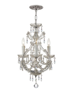 Crystorama Maria Theresa Four-Light Elements Crystal Chrome Mini Chandelier