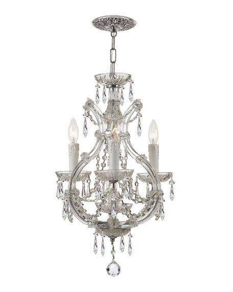 Crystorama Maria Theresa 4-Light Elements Crystal Chrome Mini Chandelier