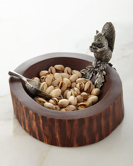 Vagabond House Squirrel Nut Bowl With Scoop