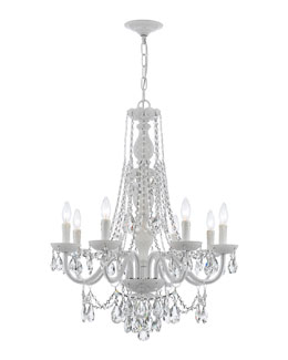 Crystorama Envogue Eight-Light White Crystal Chandelier