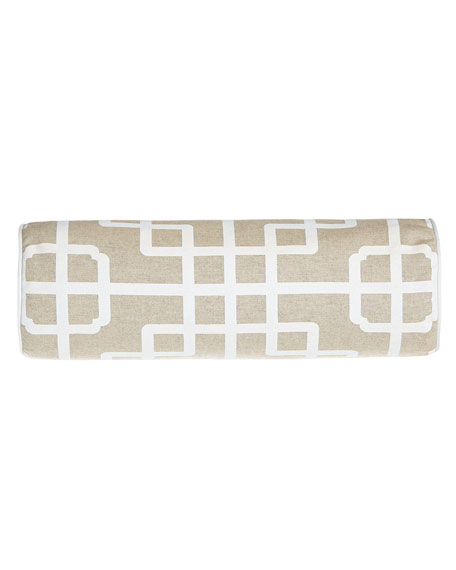 Ming Pagoda Geometric Neck Roll Pillow