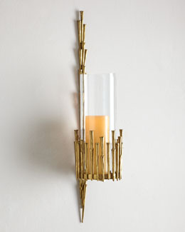 Golden Branch Candle Sconce
