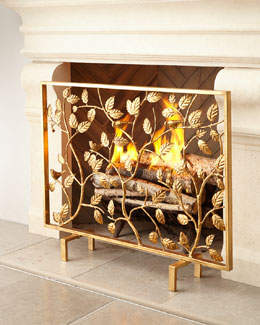 Bird Branch Fireplace Screen
