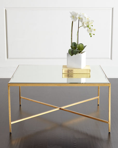 Interlude Home Larissa Mirrored Coffee Table