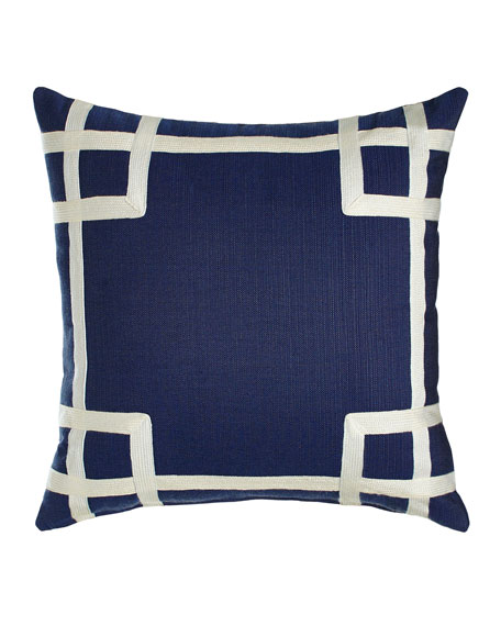 Lacefield Designs Navy Rio Outdoor Pillow