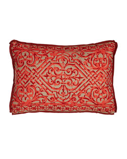 Melon Santos Outdoor Lumbar Pillow