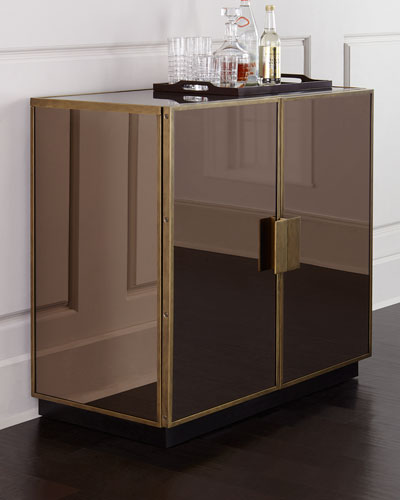 Elsa Mirrored Bar Cabinet