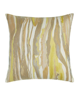 Citrine Bark Outdoor Pillow