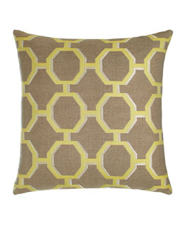 Citrine Octagons Outdoor Pillow