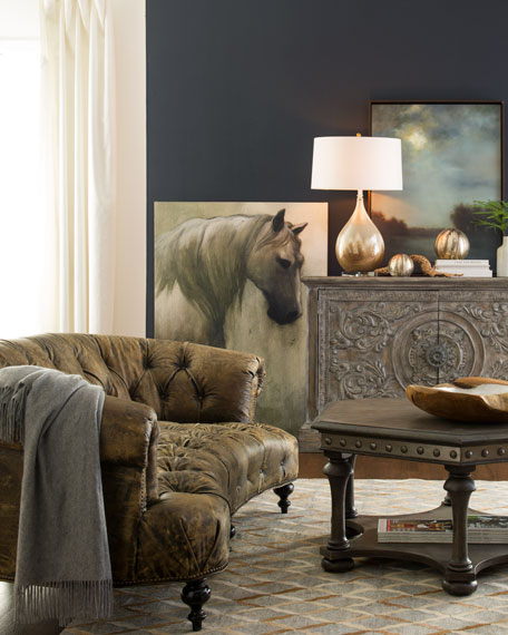 Leather Furniture Hickory North Carolina: Old Hickory Tannery Carson Tufted Leather Sofa