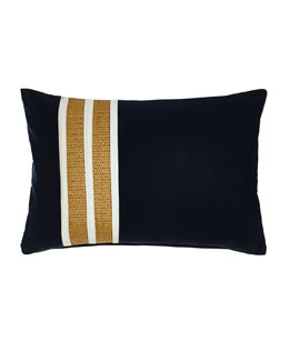 Navy Regents Stripe Outdoor Pillow