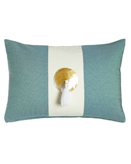 Celadon Tassel Outdoor Pillow