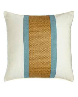 Celadon Broad Stripe Outdoor Pillow