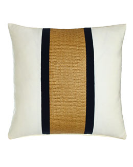 Navy Broad Stripe Outdoor Pillow