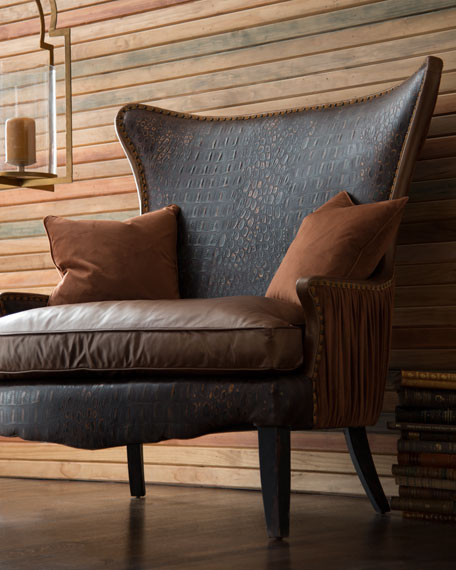 Dustin Leather Oversize Chair