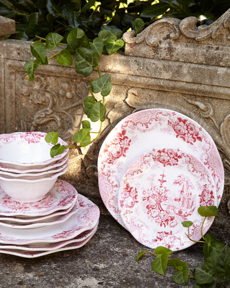 Cambridge Rose Melamine Dinner Plates, Set of 4