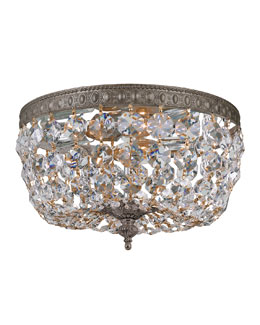 Prism Crystal 2-Light Flush-Mount Ceiling Fixture