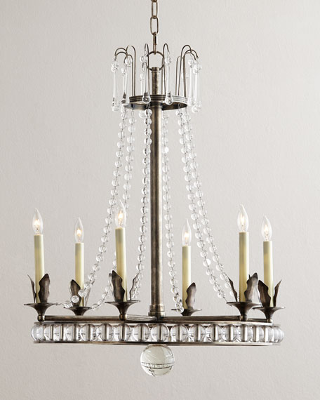 Visual comfort regency style 6 light chandelier mozeypictures Choice Image