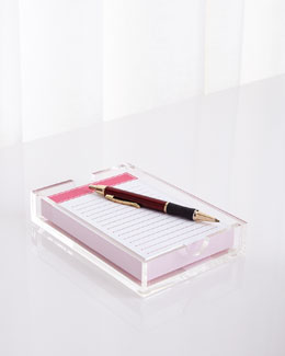 Pink Jotter In Tray