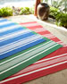 Harborview Stripe Indoor/Outdoor Rug, 8' x 10'