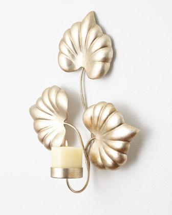 Leaf Candle Sconce