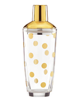 Gold-Dot Cocktail Shaker