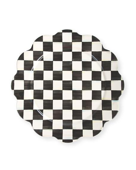 Courtly Check Enamel Petal Platter