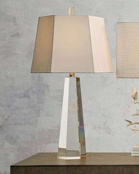 Hexagon Crystal Table Lamp