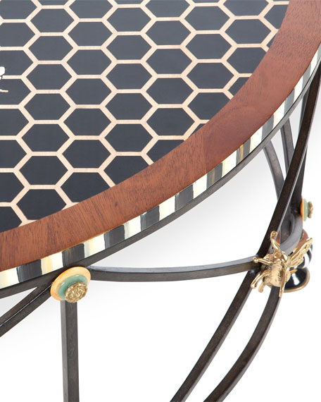 MacKenzie-Childs Honeycomb Round Coffee Table
