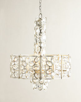 Crystal Ovals 8-light Chandelier