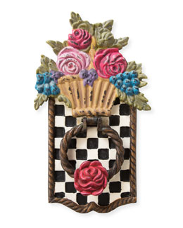 Flower Basket Door Knocker