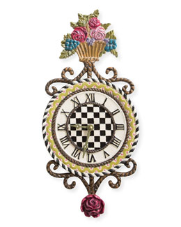 Flower Basket Clock