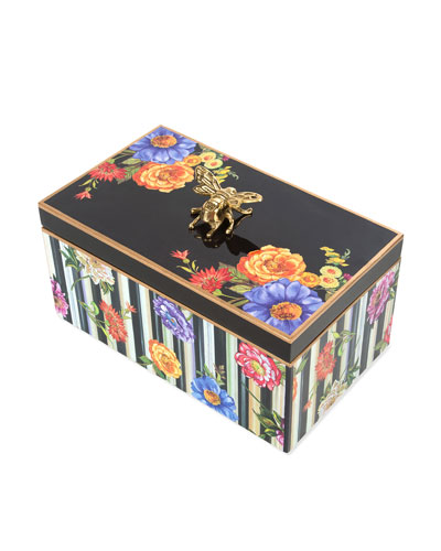 Cutting Garden Black Jewelry Box