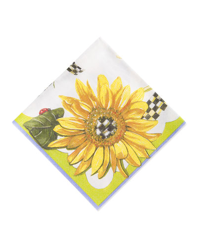 Sunflower Paper Cocktail Napkins