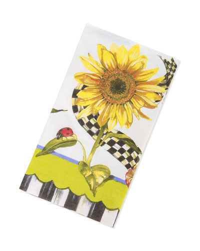 Sunflower Paper Guest Towels/Buffet Napkins