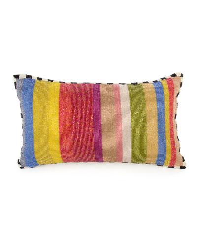 cutting garden striped lumbar pillow - Decorative Lumbar Pillows