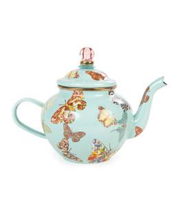Sky Butterfly Garden 4-Cup Teapot