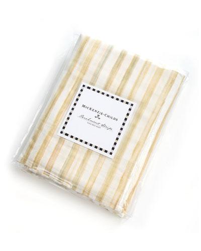King Parchment Stripe Dust Skirt